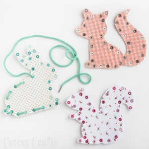 Fabric Lacing Cards