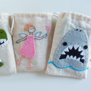 Muslin Tooth Fairy Bags