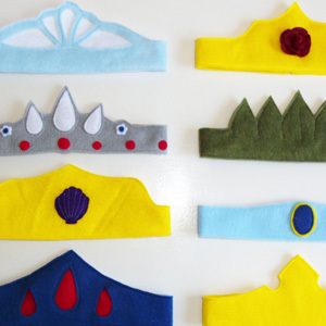 Felt Princess Crowns