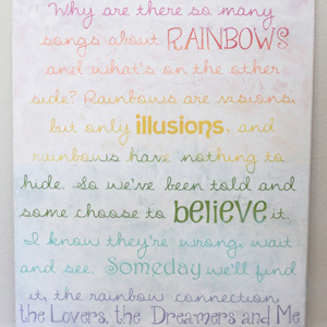 DIY Rainbow Nursery Art
