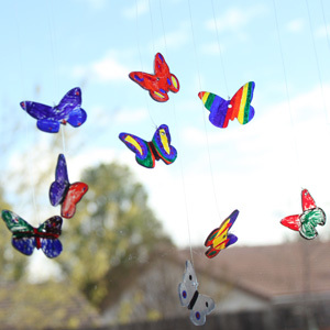 Butterfly Craft Idea – Shrinky Dink Suncatchers