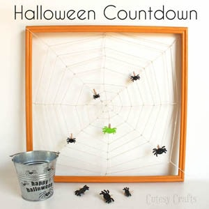Spider Web Halloween Countdown