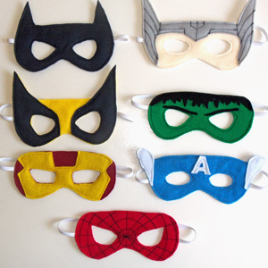 Felt Superhero Mask Templates for a Superhero Party