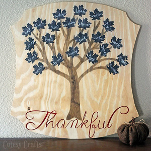 Chalkboard Thankful Tree
