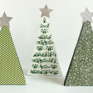 scrap wood christmas trees cutesy crafts - Wood Christmas Trees