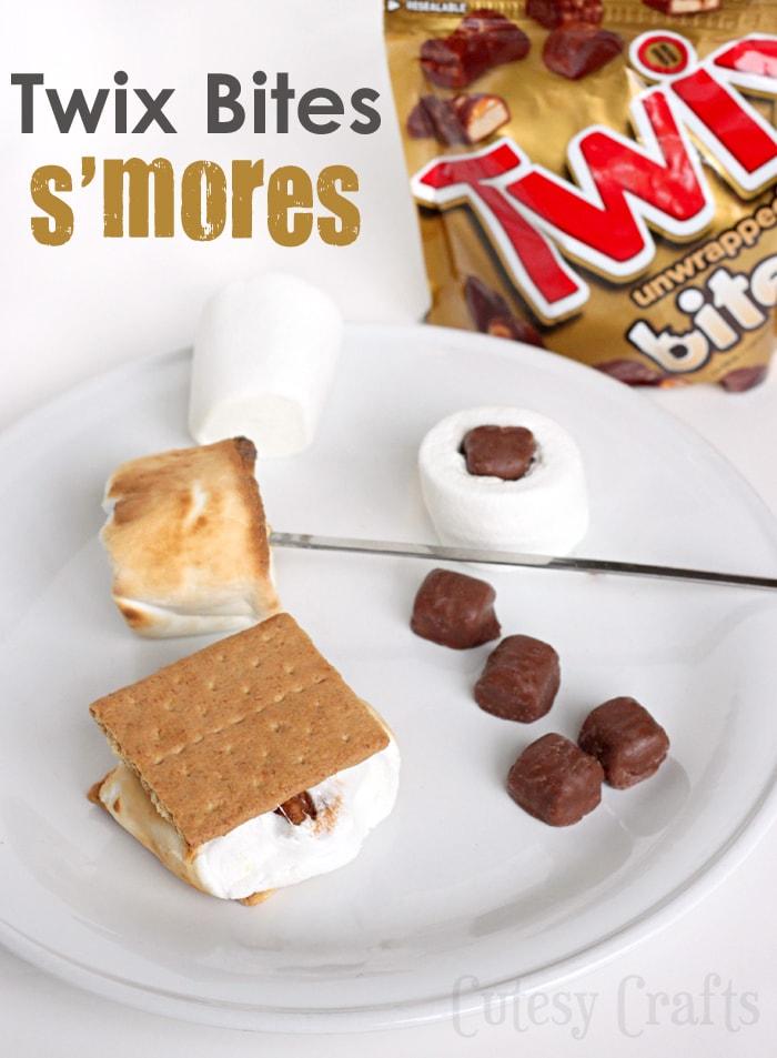 Put TWIX® Bites inside marshmallows for your s'mores! #EatMoreBites #shop #cbias