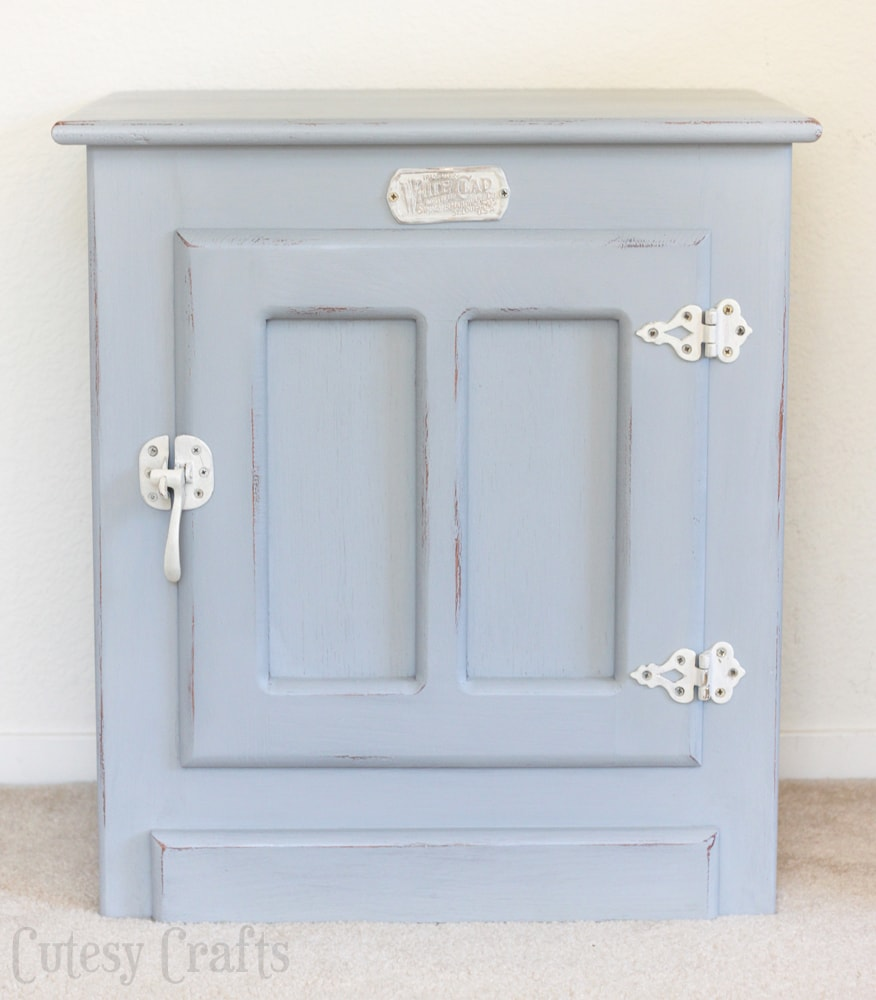 White Clad end table painted gray