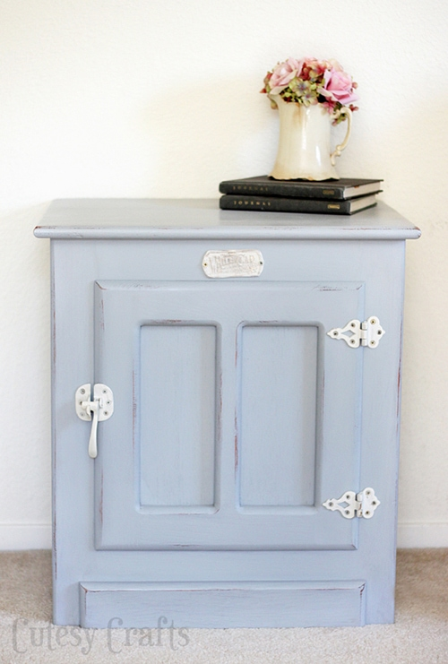 White Clad end table painted gray.