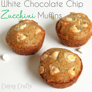 Kitchen Crafts – White Chocolate Chip Zucchini Muffins