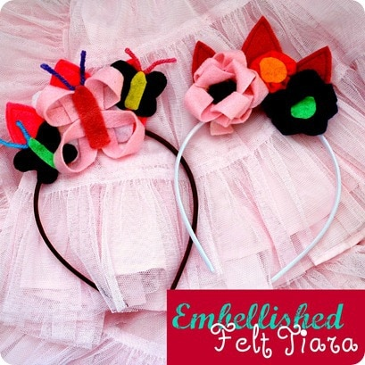 Embellished Felt Tiara from The Silly Pearl