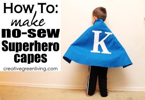 No Sew Superhero Cape from Creative Green Living