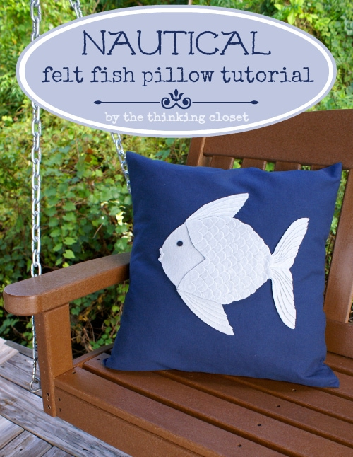 Felt Fish Pillow from The Thinking Closet