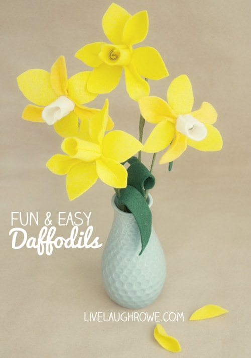 Felt Daffodils from Live Laugh Rowe