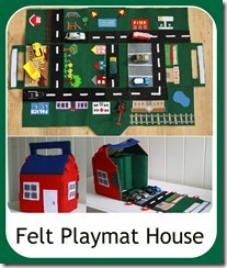 Felt Car Playmat/House from Cook Clean Craft
