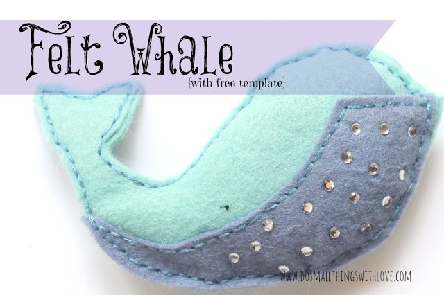 Felt Whale from Do Small Thing with Love