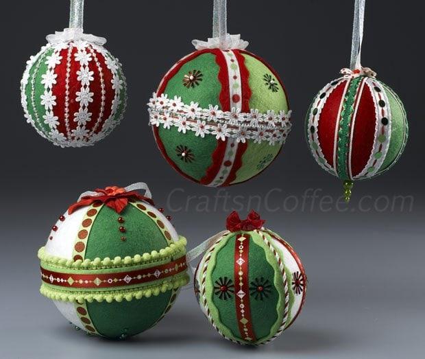 Felt & Ribbon Ornaments from Crafts n' Coffee