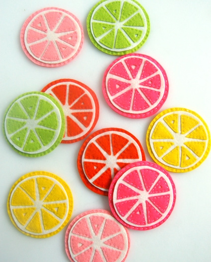Citrus Coasters from The Purl Bee