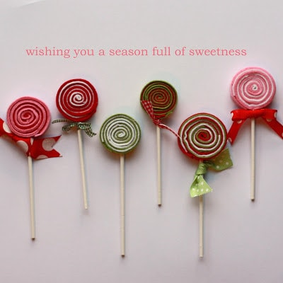 Felt Lollipops from All in One Day's Time