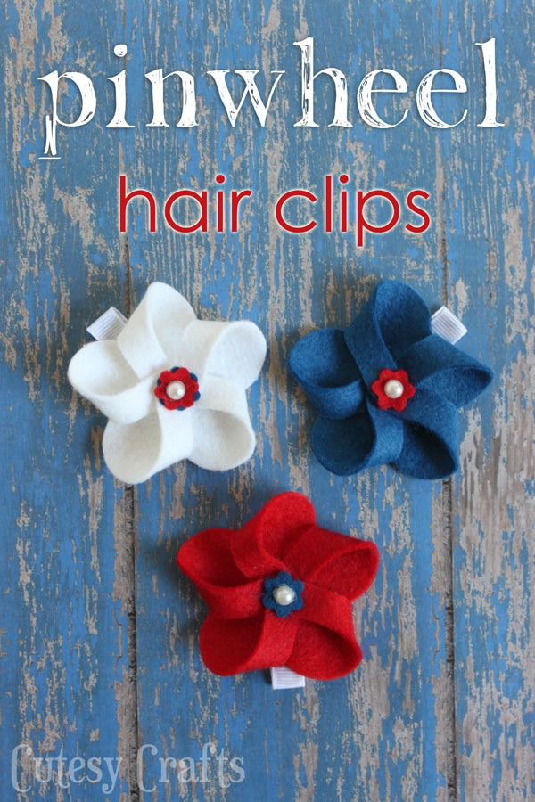 Felt 4th of July Hair Clips