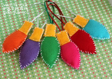 Felt Bulb Ornaments from Wait 'Til Your Father Gets Home