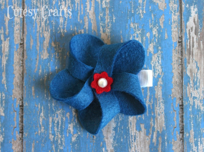 Felt 4th of July Hair Clip