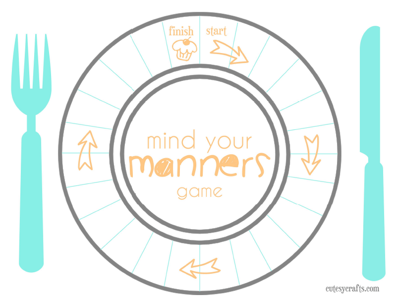 Tools For Surviving Restaurants And Teaching Table Manners To Kids. Printable Game To Teach Table Manners Kids Dineinorderahead Pmedia Ad. Worksheet. Table Manners Worksheet At Mspartners.co
