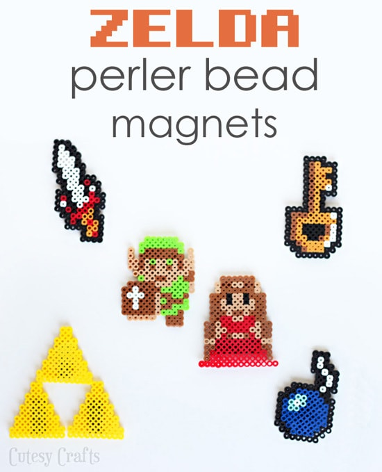 Zelda Perler Bead Patterns - To make magnets for dad's cubicle.  Easy father's day gift!