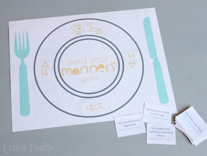 Manners game for kids.