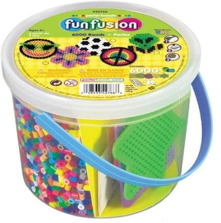 bucket of perler beads