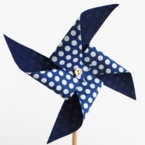 4th of July Fabric Pinwheels