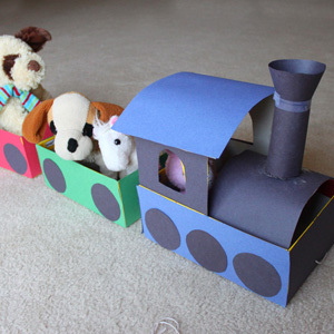 Shoebox Train Craft for Kids