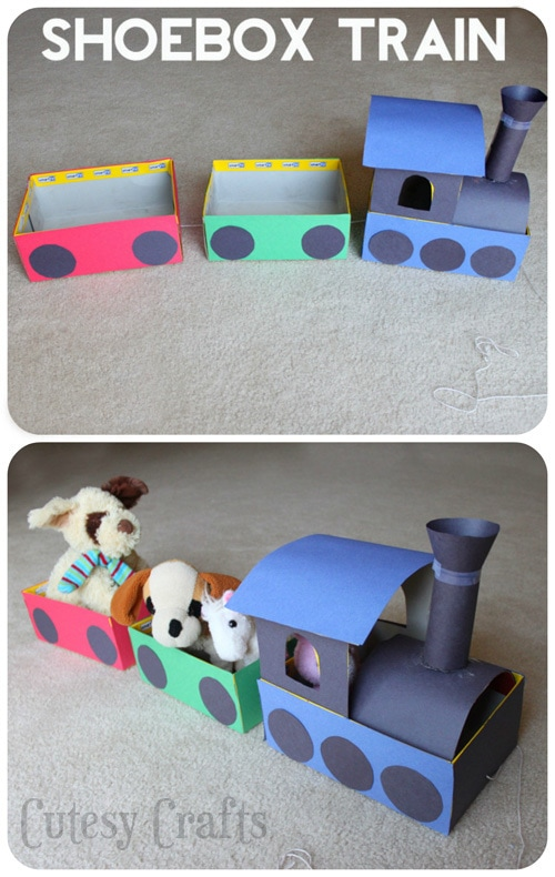 Shoebox train craft for kids cutesy crafts for Craft work for class 3