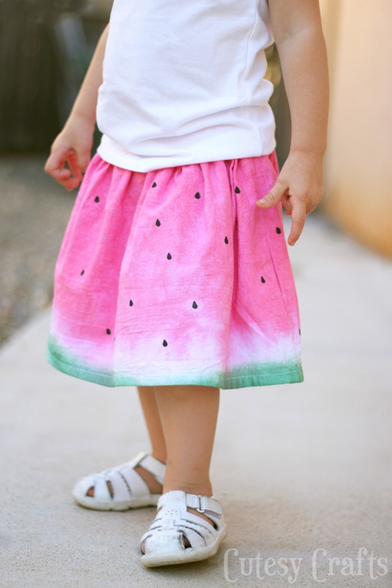 Dip Dye Watermelon Skirt