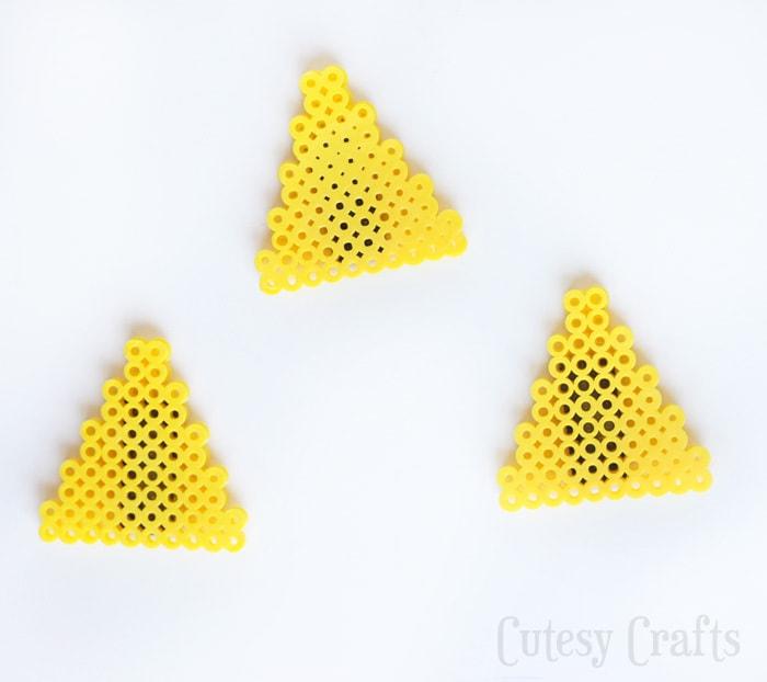 Zelda Perler Bead Magnets - triforce