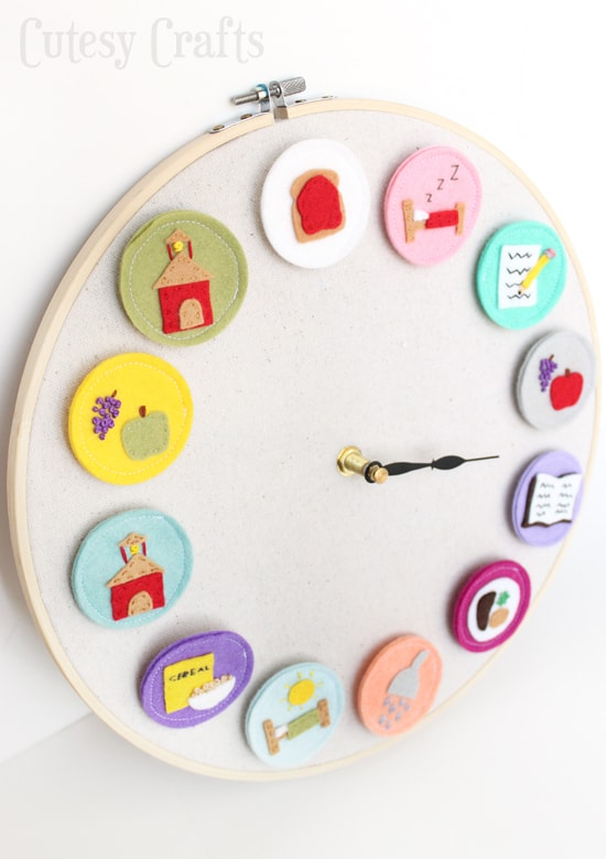DIY Clock for Kids - Helps the kids know what activity is coming next during the day.