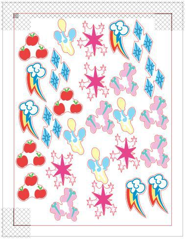 Make these temporary My Little Pony tattoos for a birthday party or just for fun. Free Silhouette cut file!