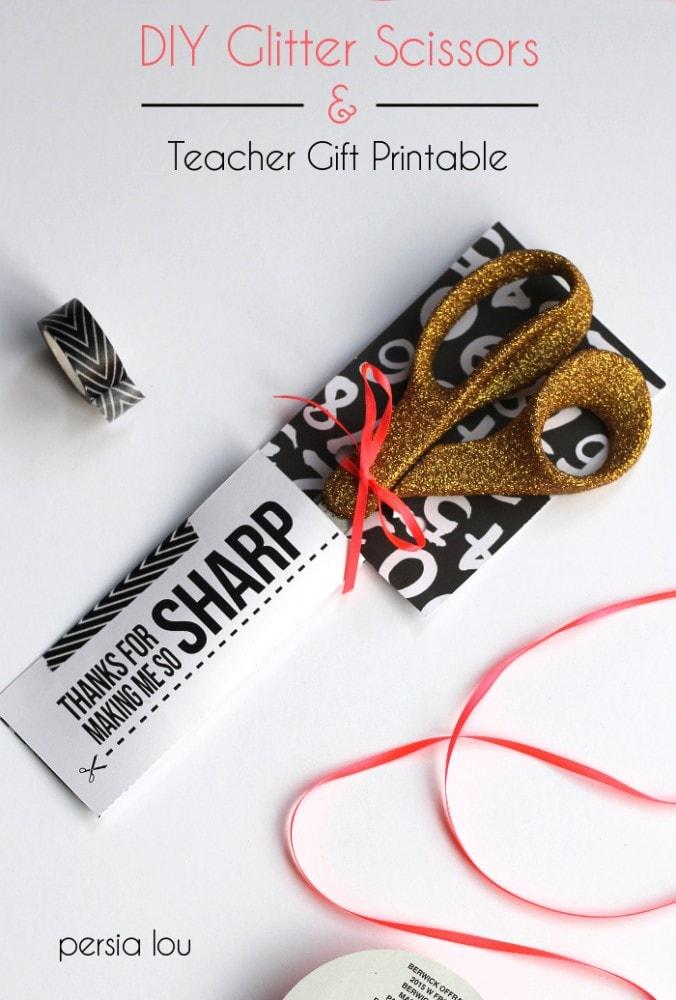 Glittery Scissors Upgrade Plus Teacher Gift Printable by Persia Lou