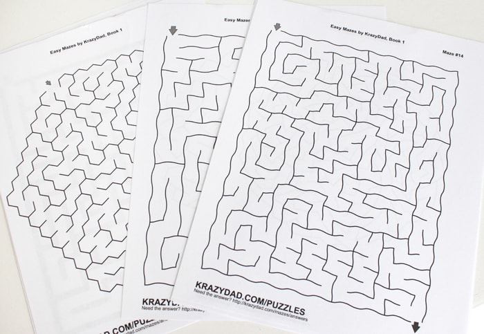 Printable mazes from krazydad.com