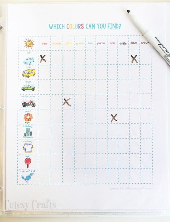 Free printable road trip games!