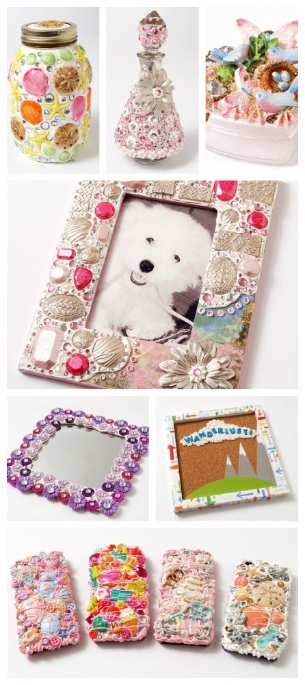 Mod Podge Collage Clay Projects #plaidcrafts #modpodge #sponsored