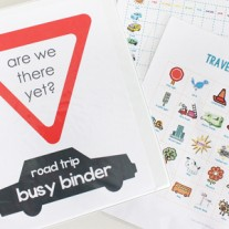 Busy Binder with Printable Road Trip Games