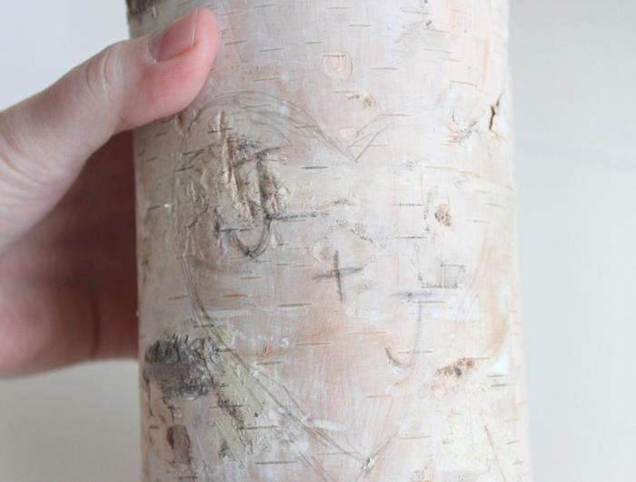 Birch Pillar DIY Candle Holder