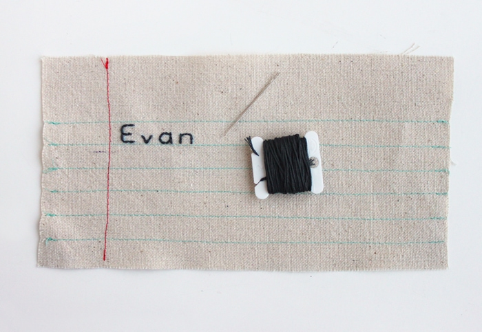 Notebook Paper Zipper Pouch Tutorial
