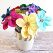 Felt Flower Pen Bouquet – Teacher Gift