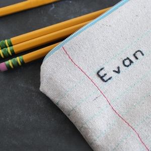 Notebook Paper Zipper Pouch Tutorial
