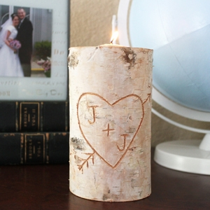 Birch Pillar DIY Candle Holder