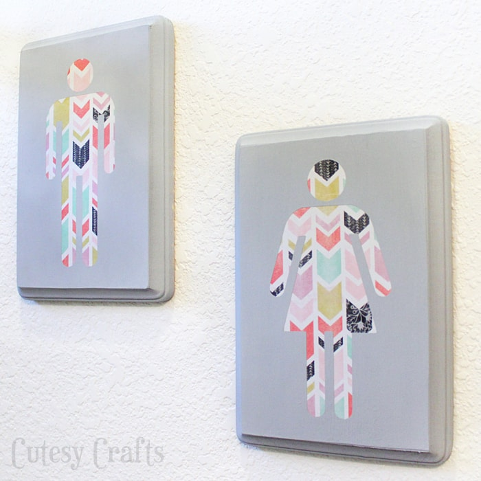 Diy wall art for the bathroom cutesy crafts for Bathroom wall decor ideas diy