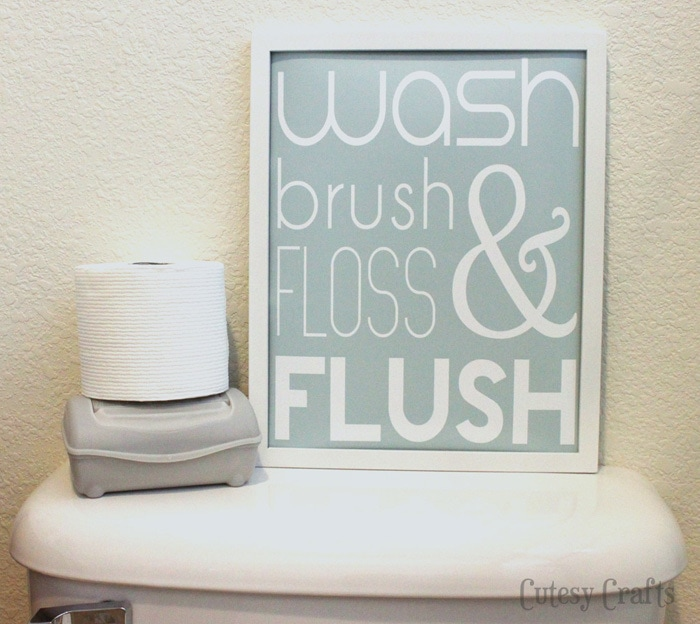 Check Out The Printable That We Have Hanging In The Same Bathroom