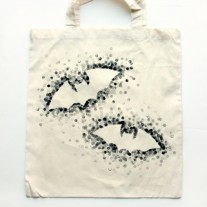Eraser-Stamped Trick-or-Treat Bag