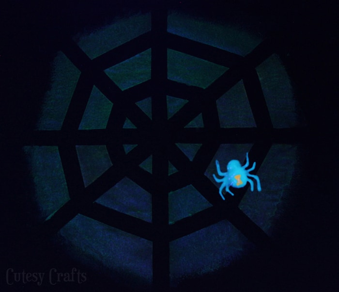 Glow in the Dark Spiderweb Shirt #TulipGlow